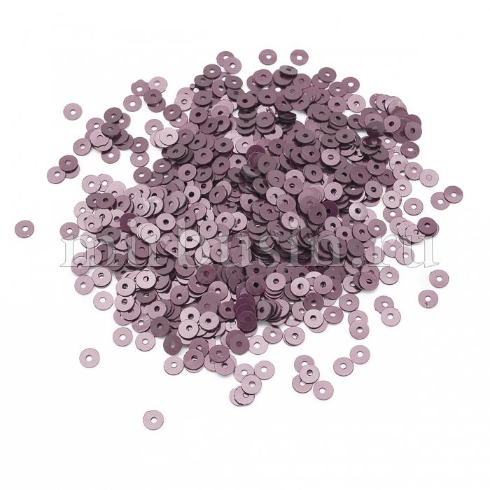 Пайетки, Круглые, Перламутровые, Цвет: Розово-бежевый, Размер: 4мм, около 2500шт/10г, (УТ100024324)