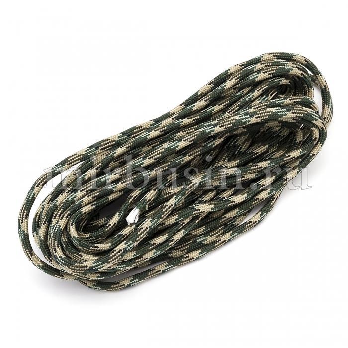 Шнур Паракорд Полиэстер, подходит для плетения браслетов, Полосатый, Цвет: Коричневый, Размер: Ширина 4мм, (УТ100024346)