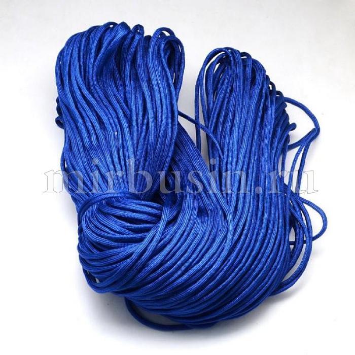 Шнур Паракорд Полиэстер, подходит для плетения браслетов, Цвет: Светло-синий, Размер: Диаметр 4-5мм, (УТ100024352)