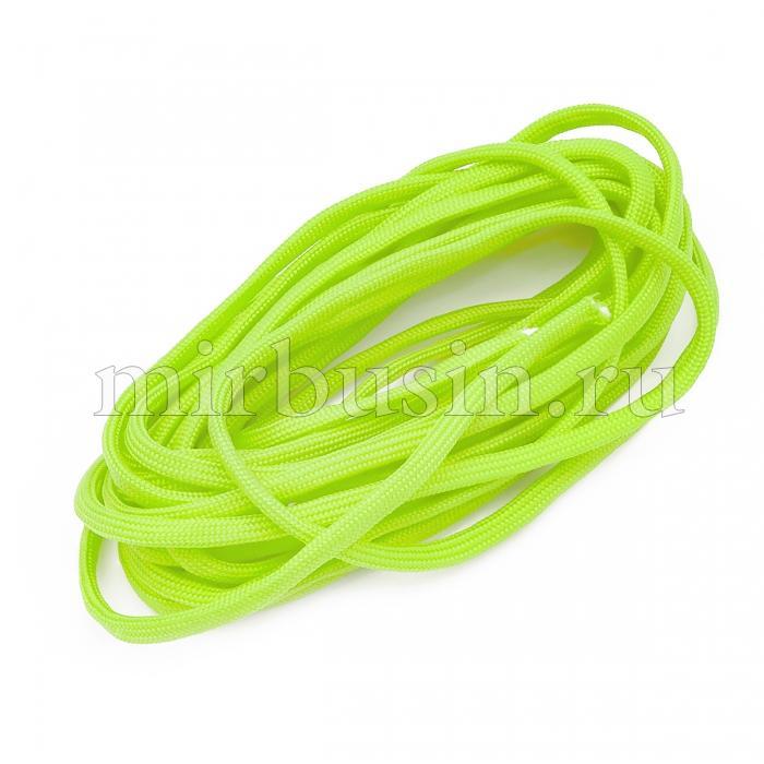 Шнур Паракорд Полиэстер, подходит для плетения браслетов, Цвет: Зелено-желтый, Размер: Диаметр 4-5мм, (УТ100024353)