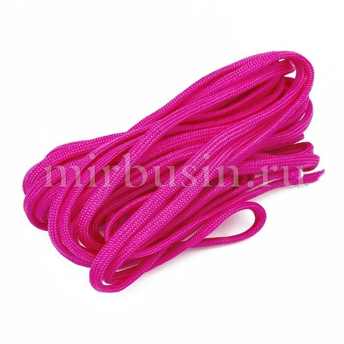 Шнур Паракорд Полиэстер, подходит для плетения браслетов, Цвет: Ярко-розовый, Размер: Диаметр 4-5мм, (УТ100024354)