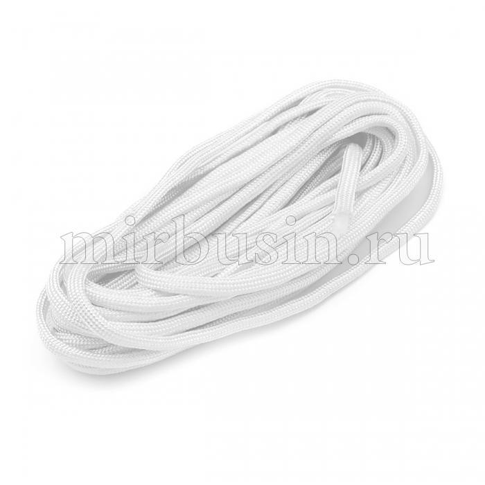 Шнур Паракорд Полиэстер, подходит для плетения браслетов, Цвет: Белый, Размер: Диаметр 4-5мм, (УТ100024361)
