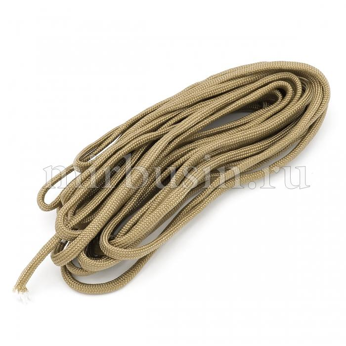Шнур Паракорд Полиэстер, подходит для плетения браслетов, Цвет: Верблюжий, Размер: Диаметр 4-5мм, (УТ100024365)