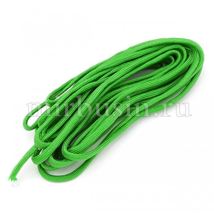 Шнур Паракорд Полиэстер, подходит для плетения браслетов, Цвет: Зеленый, Размер: Диаметр 4-5мм, (УТ100024366)
