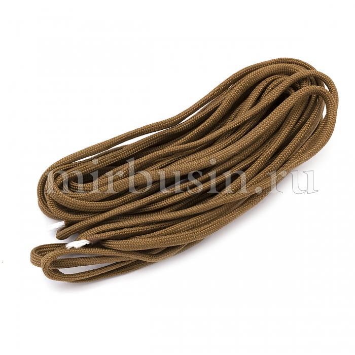 Шнур Паракорд Полиэстер, подходит для плетения браслетов, Цвет: Орехово-коричневый, Размер: Диаметр 4-5мм, (УТ100024367)