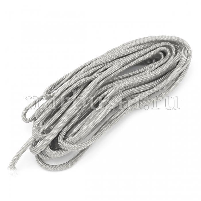 Шнур Паракорд Полиэстер, подходит для плетения браслетов, Цвет: Светло-серый, Размер: Диаметр 4-5мм, (УТ100024370)