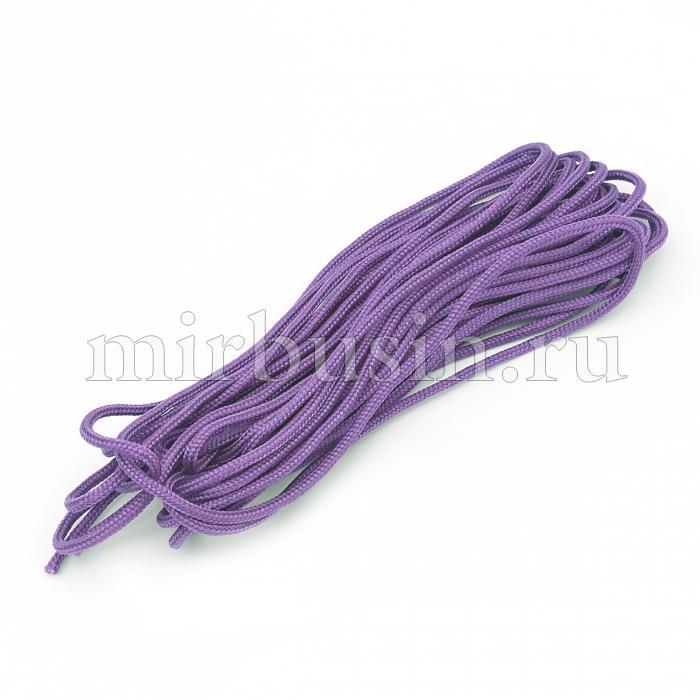 Шнур Паракорд Полиэстер, подходит для плетения браслетов, Цвет: Сиреневый, Размер: Ширина 2мм, (УТ100024391)