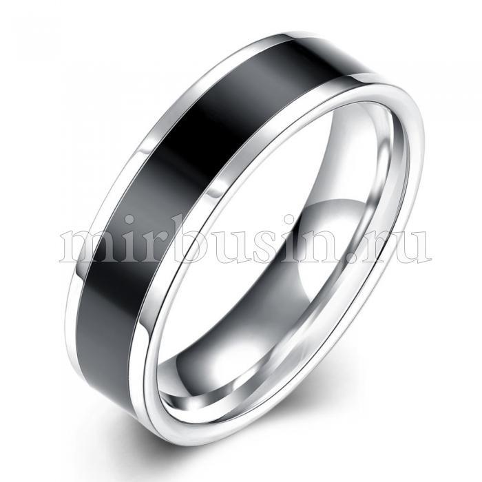 Кольцо, Титановая Сталь 316L, Цвет: Черный, Размер 18.1мм, (УТ100024559)